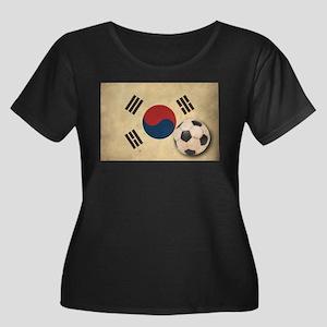 Vintage South Korea Football Women's Plus Size Sco
