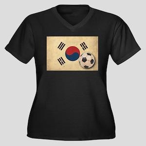 Vintage South Korea Football Women's Plus Size V-N