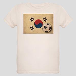 Vintage South Korea Football Organic Kids T-Shirt