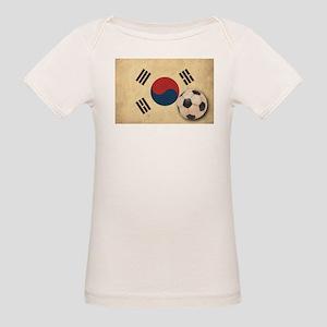 Vintage South Korea Football Organic Baby T-Shirt