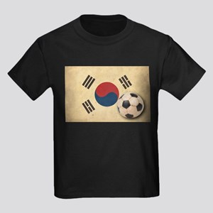 Vintage South Korea Football Kids Dark T-Shirt