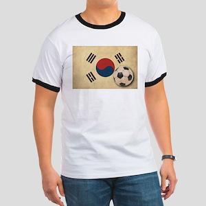 Vintage South Korea Football Ringer T