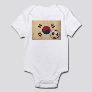 Vintage South Korea Football Infant Bodysuit