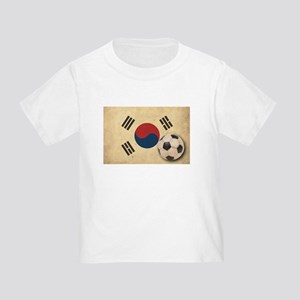 Vintage South Korea Football Toddler T-Shir