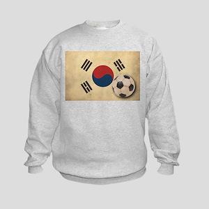Vintage South Korea Football Kids Sweatshirt