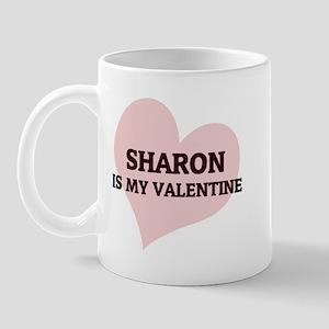 Sharon Is My Valentine Mug