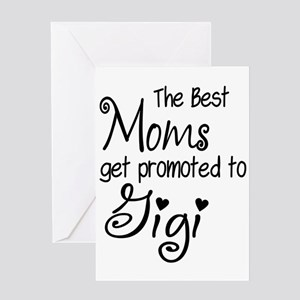 The Best Moms get Promoted to Gigi Greeting Cards