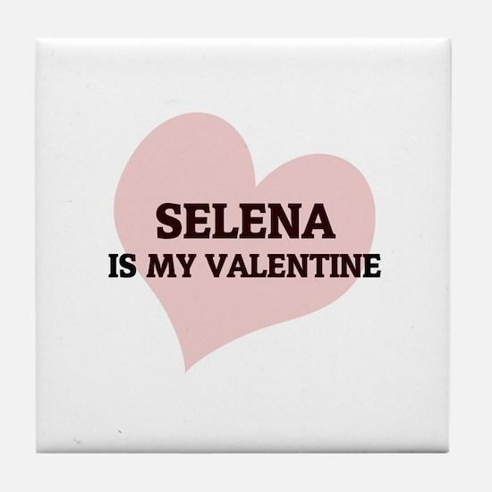 Selena Is My Valentine Tile Coaster