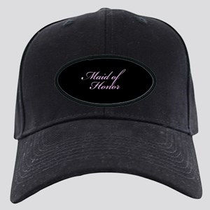 Maid of Honor Formal Font Black Cap