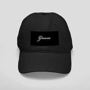 Groom Formal Font Black Cap