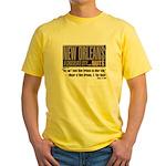 NOLA: A Chocolate City Yellow T-Shirt