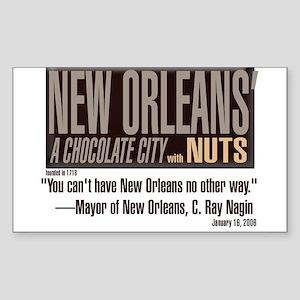 NOLA: A Chocolate City ** BUMPER STICKER **