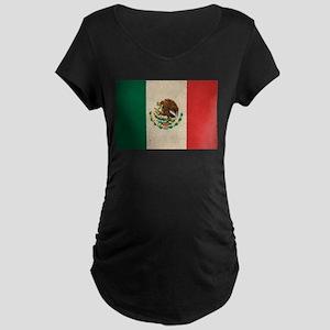 Vintage Mexico Flag Maternity Dark T-Shirt