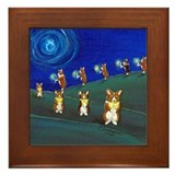 Pembroke welsh corgi christmas Framed Tiles
