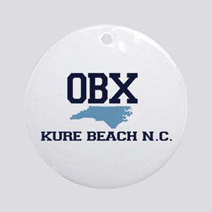 Kure Beach NC - Map Design Ornament (Round)