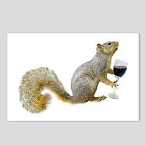 Squirrel with Wine Postcards (Package of 8)