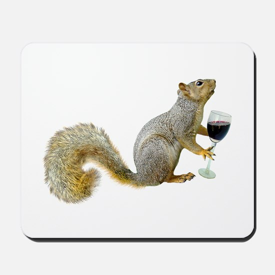 Squirrel with Wine Mousepad
