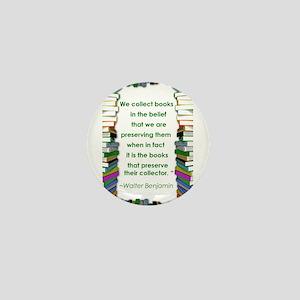 Walter Benjamin on Books Mini Button