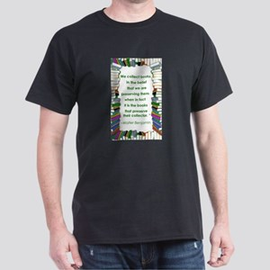 Walter Benjamin on Books Dark T-Shirt