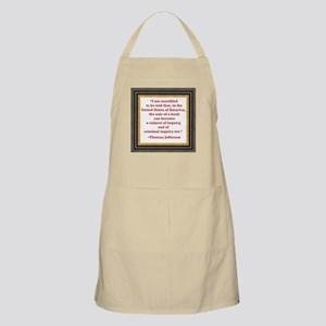 Thomas Jefferson on book sale Apron