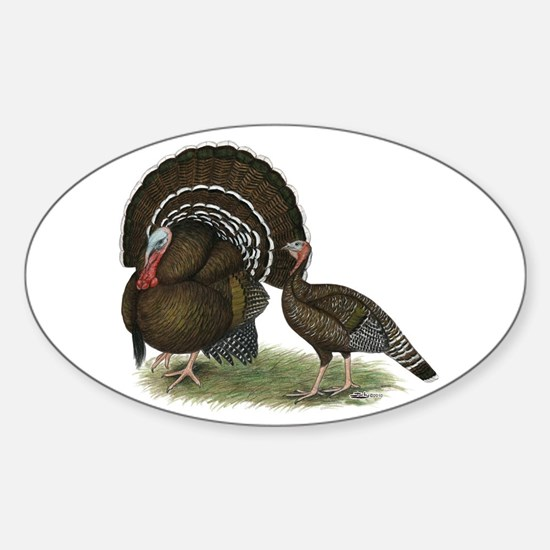 Turkey Standard Bronze Sticker (Oval)