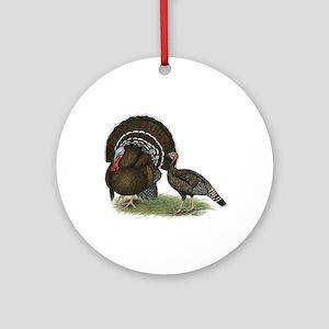 Turkey Standard Bronze Ornament (Round)