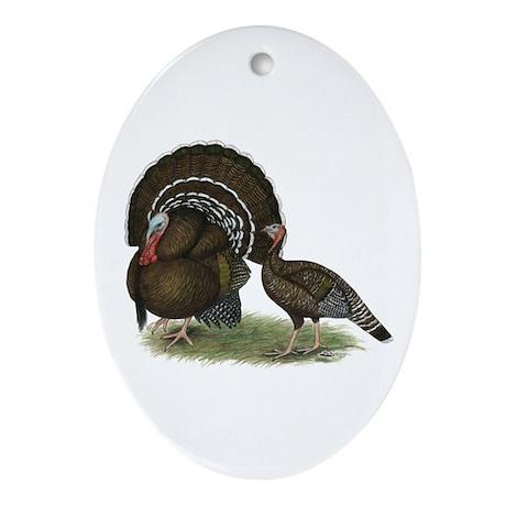 Turkey Standard Bronze Ornament (Oval)