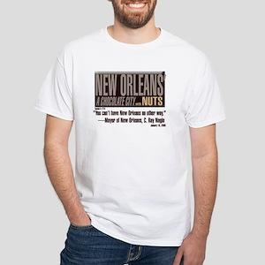 NOLA: A Chocolate City White T-Shirt
