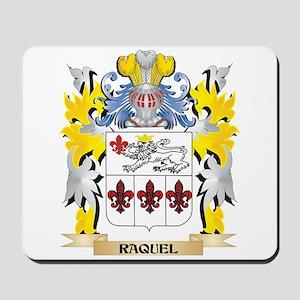 Raquel Family Crest - Coat of Arms Mousepad