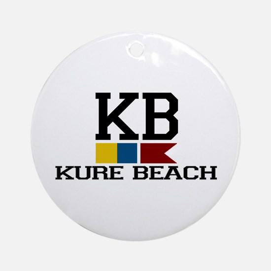 Kure Beach NC - Nautical Flags Design Ornament (Ro