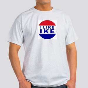 I Like Ike Ash Grey T-Shirt