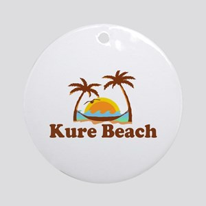 Kure Beach NC - Beach Design Ornament (Round)
