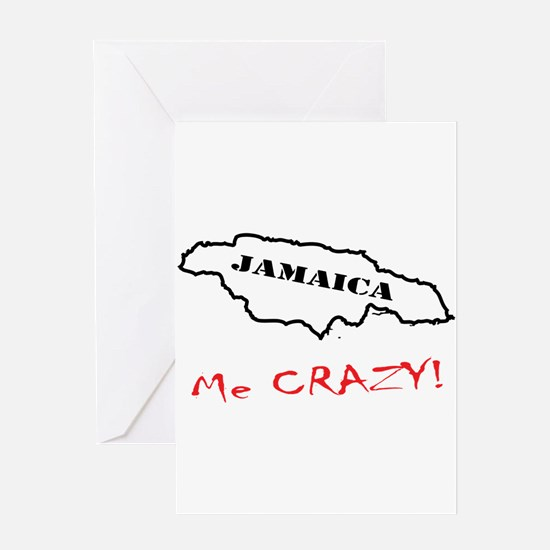 Jamaica me CRAZY! - Dark Greeting Card