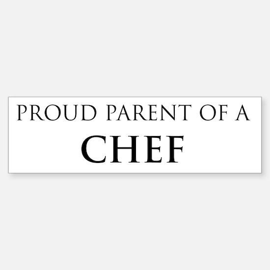 Proud Parent: Chef Bumper Car Car Sticker