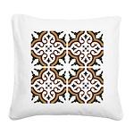 Portuguese tiles 3 Square Canvas Pillow