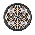 Portuguese tiles 3 Large Wall Clock