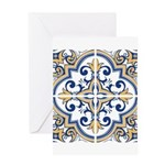 Portuguese tiles 1 Greeting Cards