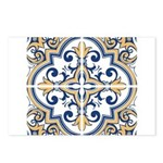 Portuguese tiles 1 Postcards (Package of 8)
