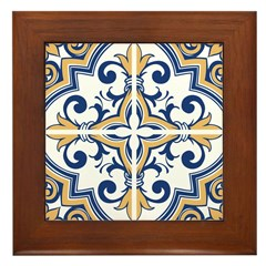 Portuguese tiles 1 Framed Tile