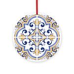 Portuguese tiles 1 Round Ornament