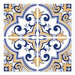 Portuguese tiles 1 Square Car Magnet 3