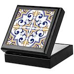 Portuguese tiles 1 Keepsake Box