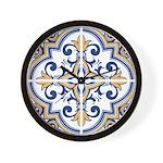 Portuguese tiles 1 Wall Clock