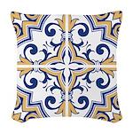 Portuguese tiles 1 Woven Throw Pillow