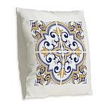 Portuguese tiles 1 Burlap Throw Pillow