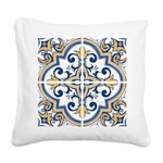 Portuguese tiles 1 Square Canvas Pillow