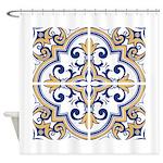 Portuguese tiles 1 Shower Curtain