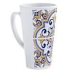 Portuguese tiles 1 17 oz Latte Mug
