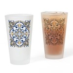 Portuguese tiles 1 Drinking Glass