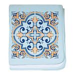 Portuguese tiles 1 baby blanket